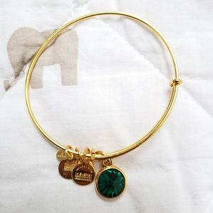 Alex and Ani Emerald Gold Bracelet